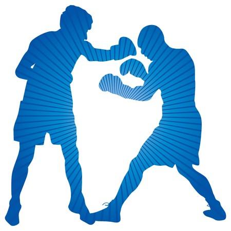 agression: boxeurs  Illustration