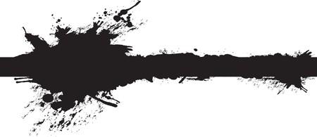 zwarte lange splash  Vector Illustratie