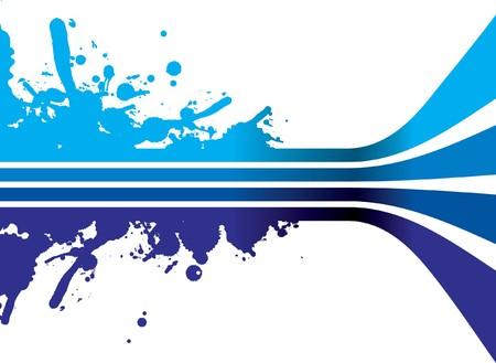 blauwe lijnen Stock Illustratie