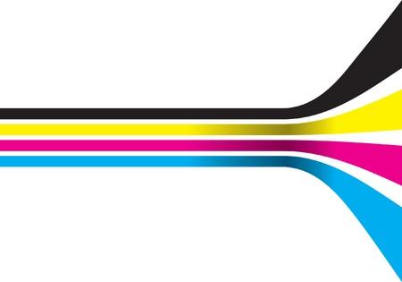 vertical lines: cmyk lines