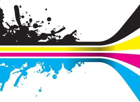 rgb: cmyk splash lines