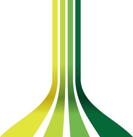 ligne: lignes vertes coulissant Illustration