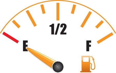 a fuel gauge with symbol Vector