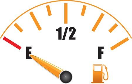 gauge: a fuel gauge with symbol