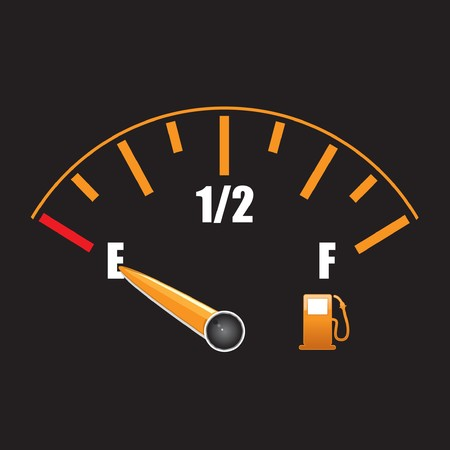 gage: a fuel gauge with symbol