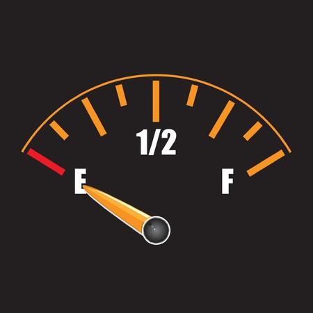 gagant: une jauge de carburant avec symbole
