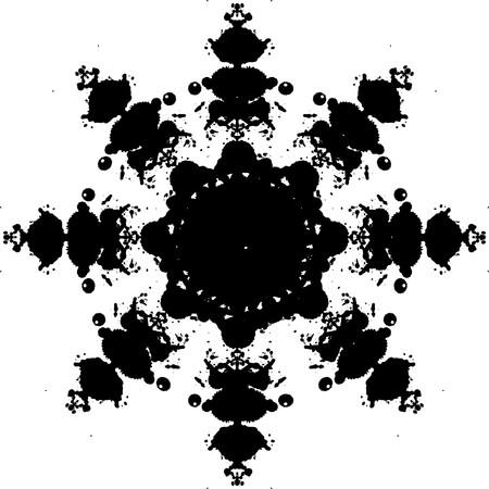 whitern: snowflake abstract  Illustration