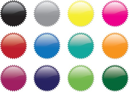 rainbow color star: twelve star sticker set