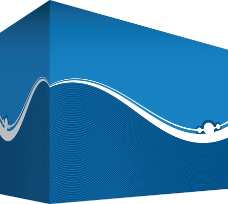 disperse: blue line background