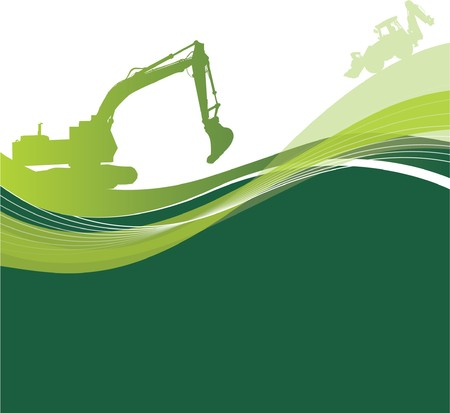 construction machinery: construction background Illustration