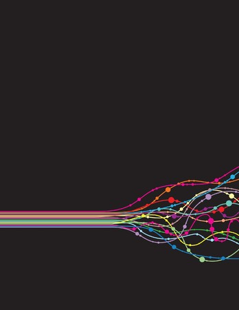 disperse: abstract line background Illustration