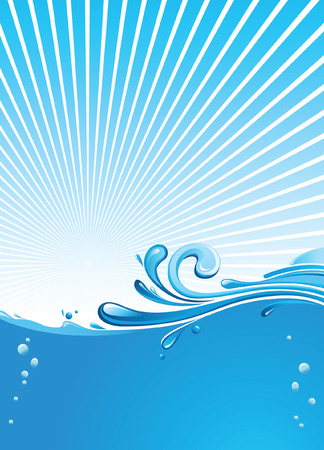 the liquid crystal: water background Illustration