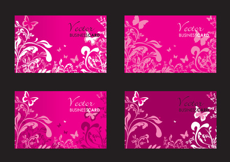 floral business cards Stock Vector - 7810529