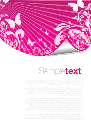 magenta: abstract floral peeling paper Illustration