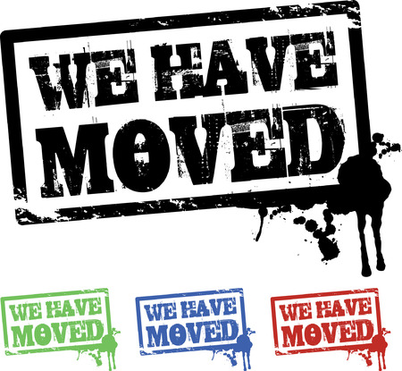 we have moved: we have moved background Illustration
