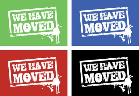 we have moved: we have moved background Illustration