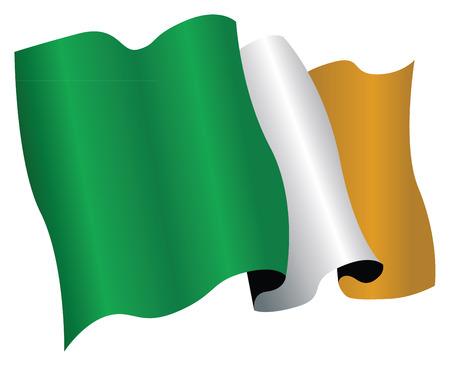 ireland flag Stock Vector - 8509338