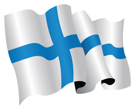 finland flag Stock Vector - 8509340