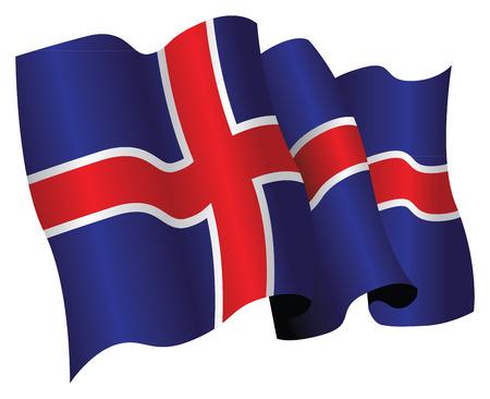 icelandic flag: Bandera island�s
