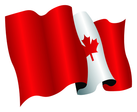 canada flag Stock Vector - 8509332