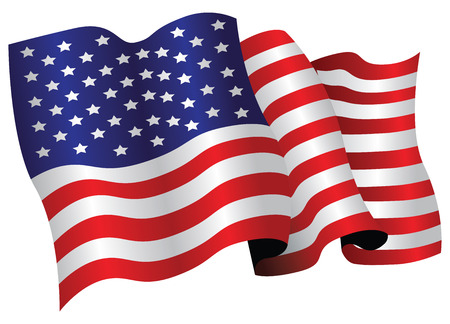 united nations: usa flag Illustration