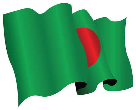 bangladesh: bangladesh flag Illustration