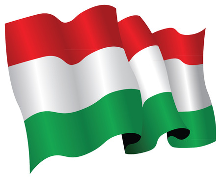 hungary flag Illustration