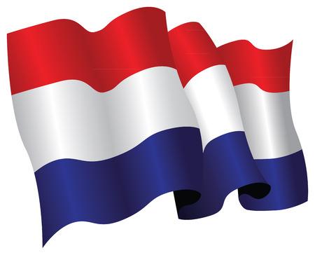 Bandera de los Países Bajos Ilustración de vector