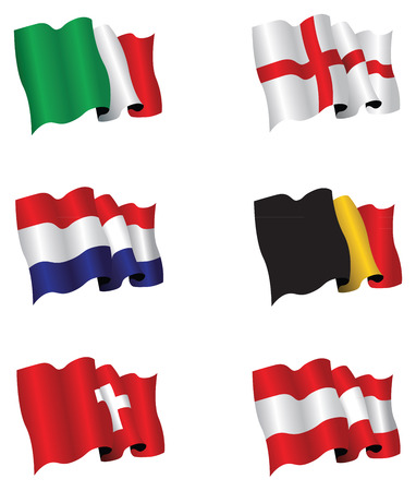 bandiera italiana: set di six flags
