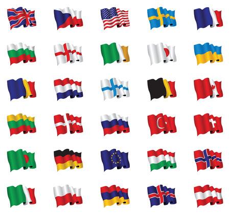 holanda bandera: banderas del mundo Vectores