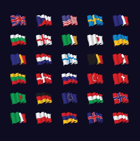 bandera de suecia: banderas del mundo Vectores