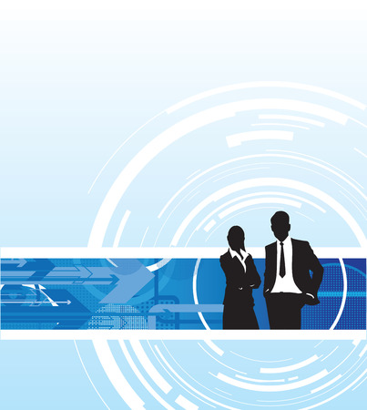 business people abstract background Vector