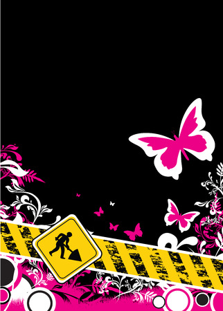 polluting: butterfly and flower background