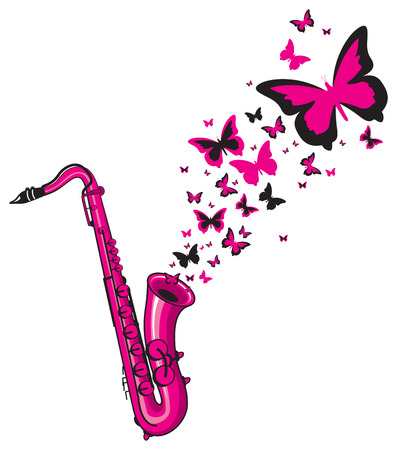 brass instrument: saxophone playing
