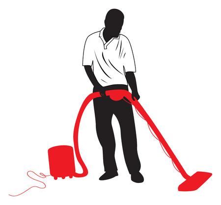 housekeeping: hombre acaparando