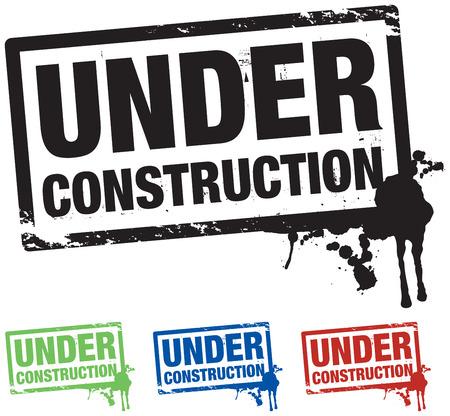 caution sign: in costruzione sfondo Vettoriali
