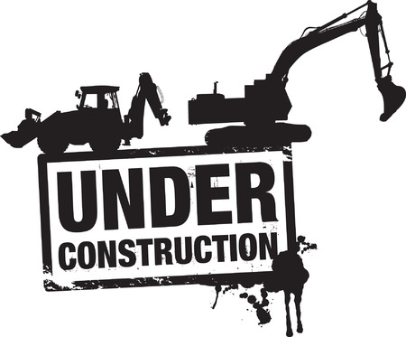 under construction background Stock Vector - 8864117