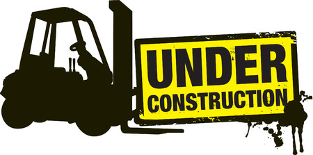 under construction background Stock Vector - 8864116