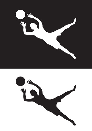 futbol: goal keeper Illustration