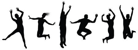 mensen springen Vector Illustratie