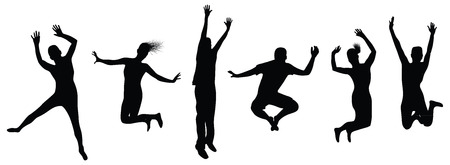 personas saltando: personas saltando