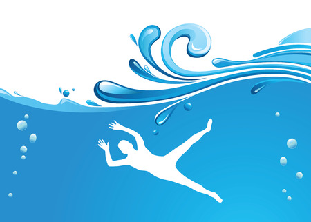 man swimming Stock Vector - 8828939