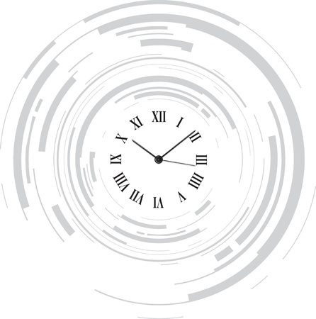 round face: abstract clock