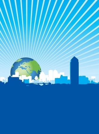 world cityscape Stock Vector - 8982671