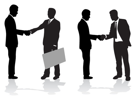 black handshake: business people