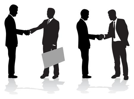 podání ruky: obchodní lidé