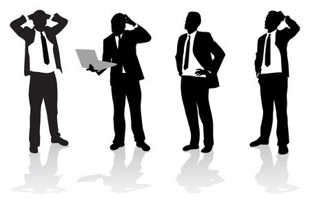 confus: gens d'affaires Illustration