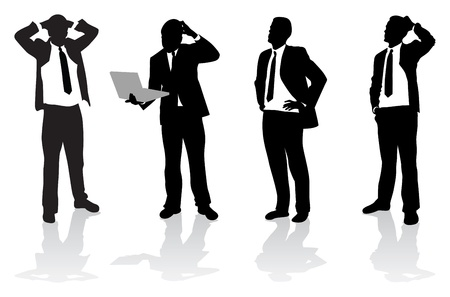 gente de negocios Ilustración de vector