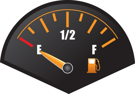 fossil fuel: petrol gauge Illustration