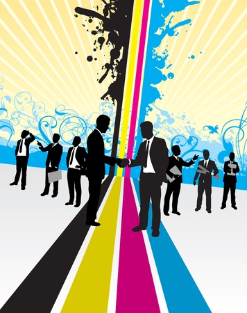 business people background Illustration
